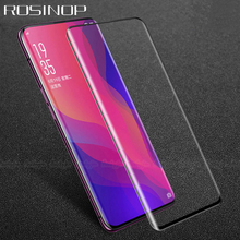 купить ROSINOP Scratch Proof 9H Tempered Glass For oppo f9 Find x Transparent Protective Glass Film Screen Protector For Find x a3s дешево