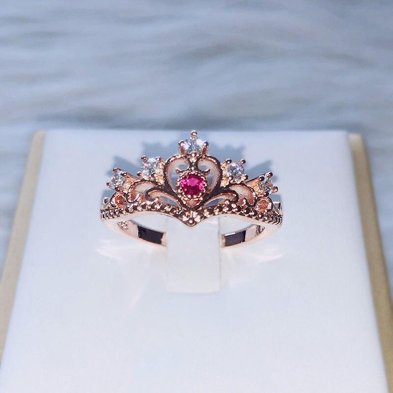 Кольца ZHOUYANG для женщин, Роскошные, с вырезами, с короной принцессы, синие, фиолетовые, красные, циркониевые, розового, золотого и серебряного ...