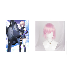 FGO Fate Grand Order Matthew Kyrielite Cosplay Wig Shielder Short Pink Straight