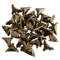 30Pcs/Set  Box Corner Foot Protector Desk Box Edge Antique Bronze Pattern Carved 19mm x 11mm