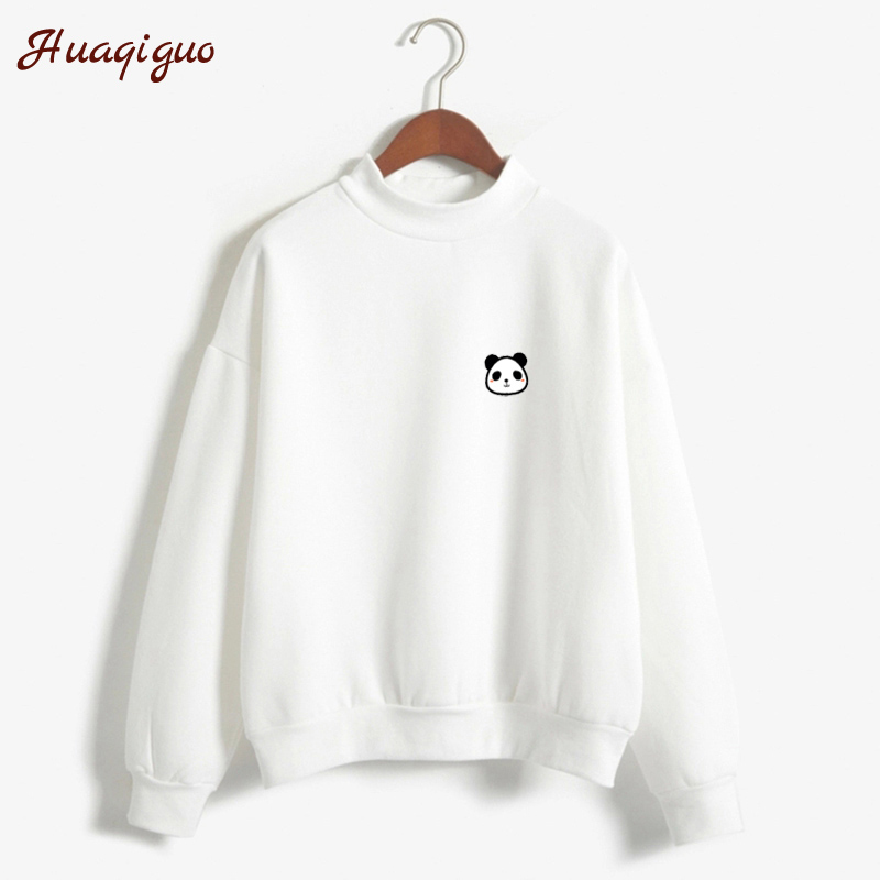 New Autumn Long Sleeve Little Cute Harakuku Kawaii Panda Printed Fleece Thick Winter Sweatshirt Women Hoodies Moletom Feminino