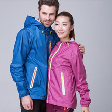 Spring and Autumn Thin section men and women Outdoor single layer Sunscreen waterproof Breathable Mountaineering Jackets
