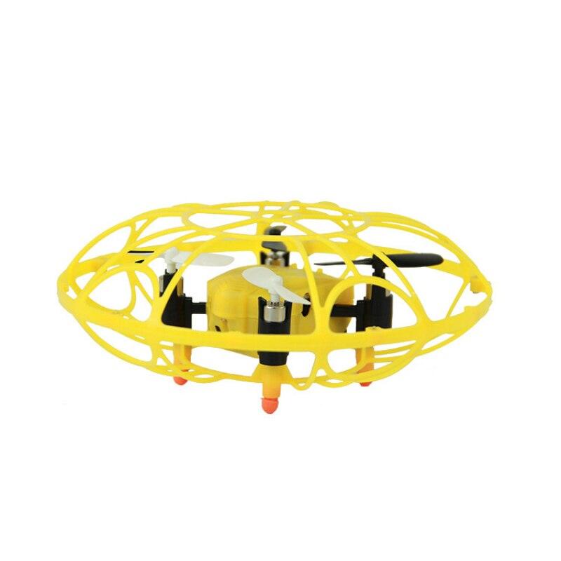 Nouveau design UFO Forme télécommande hélicoptère M75 2.4g 3D Rouleau ballon jouet MINI rc drone kid éducation jouet avec LED lumière