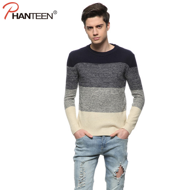 Buy Patchwork Men Sweater British Style