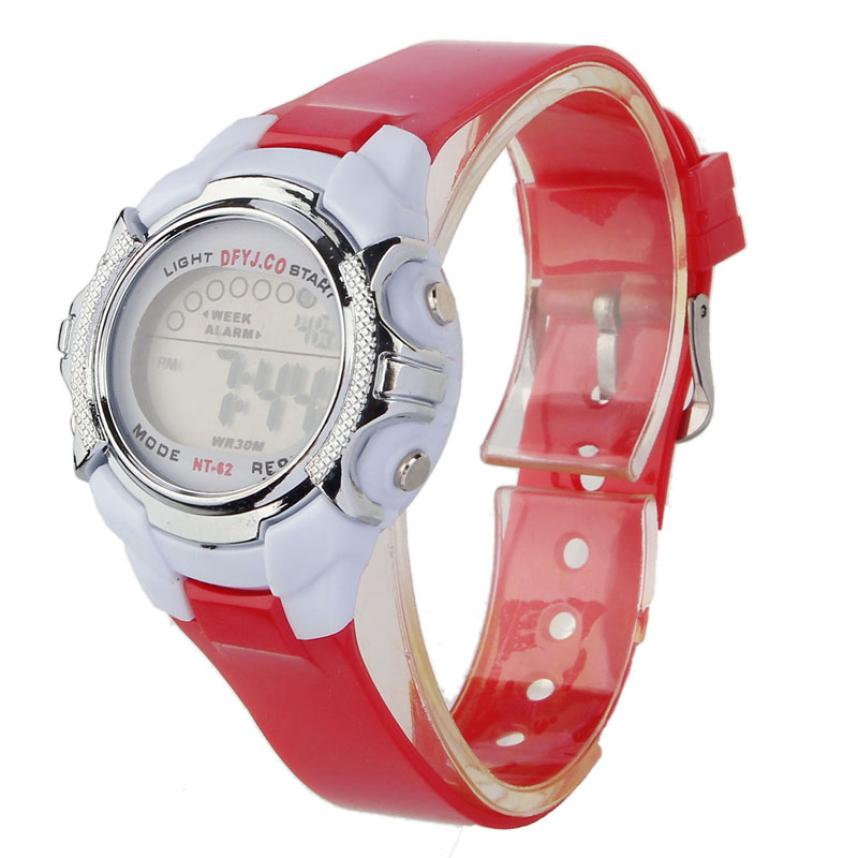 2017 Hot / Casual Fashion Children Digital LED Alarm Data Quartz - Męskie zegarki - Zdjęcie 3