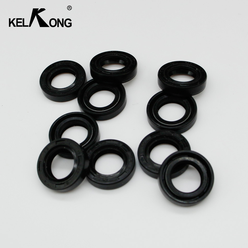 KELKONG 10Pcs Oil Seal For STIHL MS180 MS170 MS250 MS230 017 018 021 023 025 Chainsaw 2-Stroke 15*25*5 Replace #9638 003 1581 chainsaw starter handle grip pawl set with spring washer fit stihl 017 018 021 023 025 ms180 ms250 parts