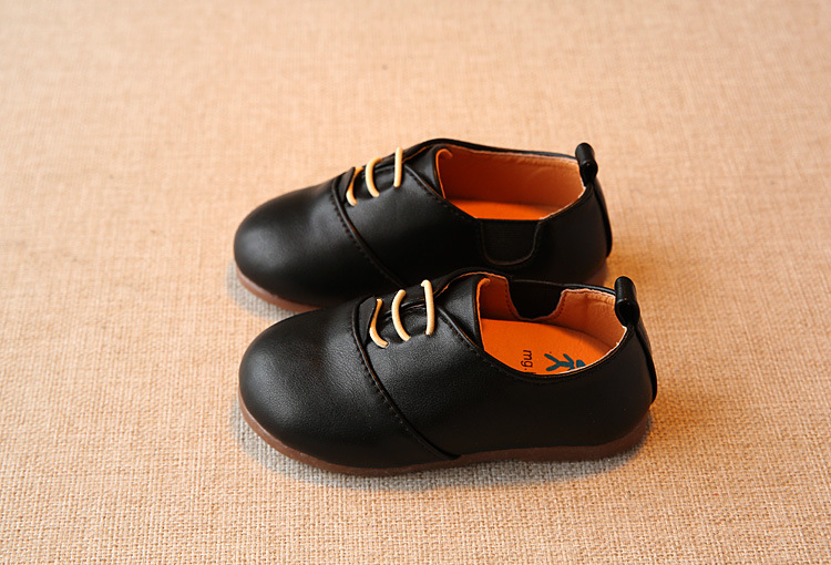 Spring Children Casual Shoes Baby Boys England Style Leather Shoes Girls Soft Bottom Shoes Kids Flats High Quality Sneakers C243 6