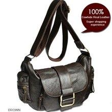 Новинка, женская сумка-мессенджер из натуральной кожи, сумка через плечо для женщин, кожаная сумка через плечо, повседневная сумка коричневого цвета