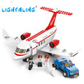 C-concept Airplane Passengers Kids Toy Building Block Sets DIY Brick Gifts Toy Lightaling