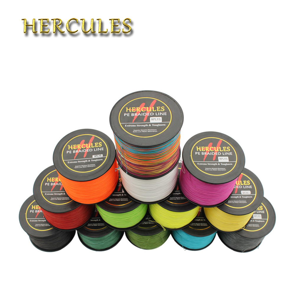 Hercules 2000M 90LB Braided Fishing Line Superior 8 Strands PE Linha De Pesca Multifilamento 8 Fio Saltwater Carp Fishing Cord daiichiseiko knot assist 2 0 for fg knot braided line to leader connection fishing accessories ferramentas accesorios de pesca