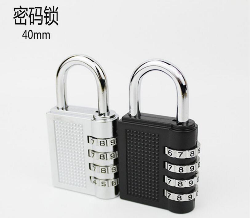 50pcs/lot! 4 Dial Digit Password Lock Combination Suitcase Luggage Metal Code Password Lock Padlock Rotated Coded Lock Padlock long 4 digit number code dial combination padlock security safety lock