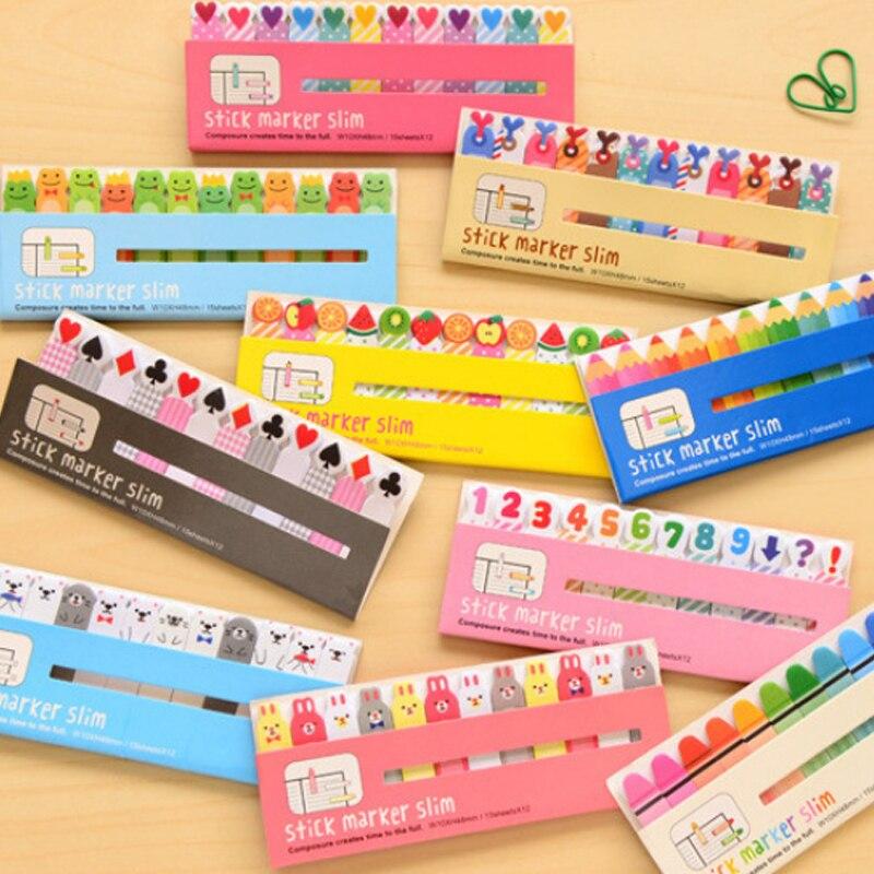 1 X cartoon Fruit & Animal memo pad post paper sticker sticky notes kawaii stationery school office supplies