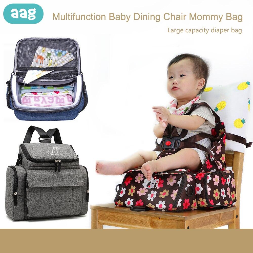 AAG Multifonction siège d'appoint sac pour maman Portable Pliable chaise de salle à manger sac à dos pour couches Enfant tapis de sécurité Bébé Manger Chaise Siège