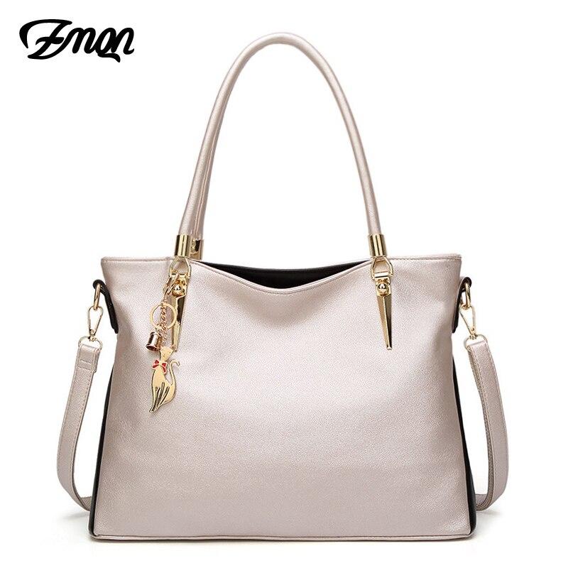 ZMQN Luxury Handbags Women Bag Designer 2019 PU Soft Leather Shoulder Bags For Women Famous Brand Fashion Woman Bag Kabelka A863