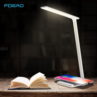 FDGAO LED Table Night Lamp USB Wireless Charging Pad Qi Wireless Charger For Samsung S8 S9 S7 Note 9 8 For iPhone X XS Max 8 XR
