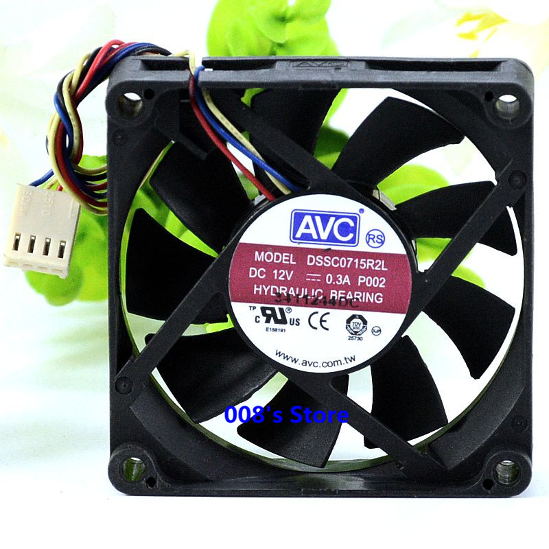New CPU Cooler Fan For DSSC0715R2L P002 DC 12V 0.3A  4 Pin 100mm 70*70*15mm Server Square Cooling Temperature Control