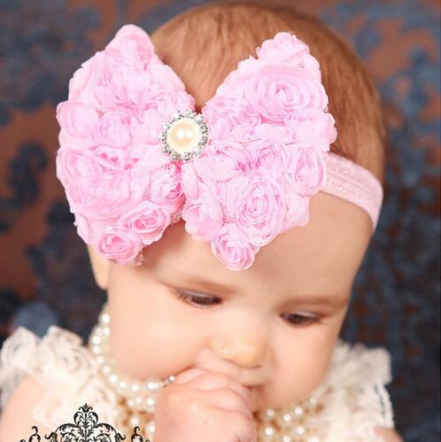JRFSD Bow knot Headband Girls Flower   Headwear   Hair Accessories 2016 New Fashion Style Hot Sell Hair Bands TH-27