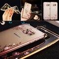 Royal Luxury style Chapado Dorado Caja Del Teléfono de TPU Para Samsung Todo S7 S7 borde/borde S6 Plus/S5/Nota 5 de silicona suave Cubierta Trasera Del Caso