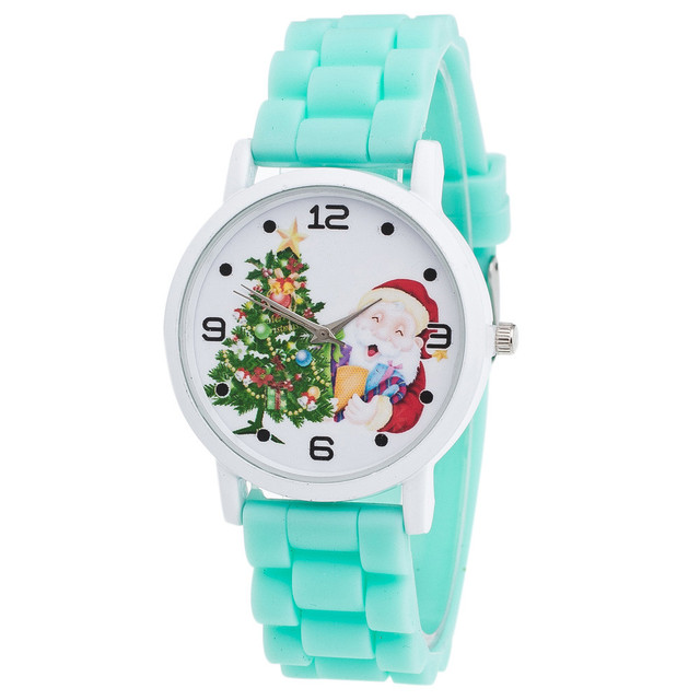 Sweet Jelly Silicone Christmas Watch Fashion New Year Christmas Gifts Children C