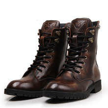 2015 new fashion personality rivet skull Unisex Gaotong Martin boots men&women winter boots Dr Genuine Leather Martin boots