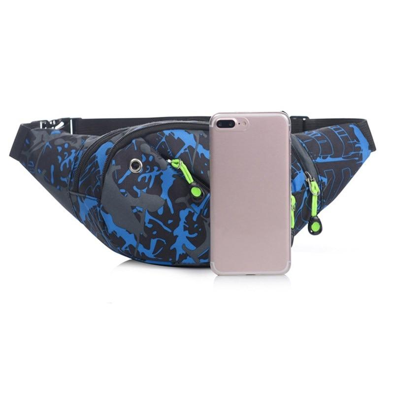 Waterproof Oxford Cloth Waist Bag Sport Pack Bag Belt Fanny Waist Pouch Outdoor Travel Racing Hiking Gym Fitness Bag