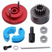 RC 14T Clutch Bell + Shoes with Spring +Flywheel Assembly Kit Set for HSP Redcat Volcano S30 SH-18 VX-18 Nitro Engine Parts(China)