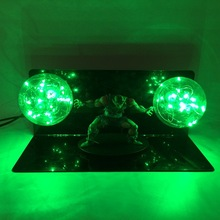 цена на Dragon Ball Z Piccolo Green LED Lamp Toy Anime Dragon Ball  Piccolo LED Light Figure Jouet Display Model Toys Children Gift
