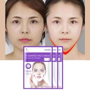 Image 4 - Mulheres levantar v rosto queixo máscaras levantamento firmando emagrecimento bochecha rugas suaves creme rosto pescoço casca fora máscaras bandagem máscara facial