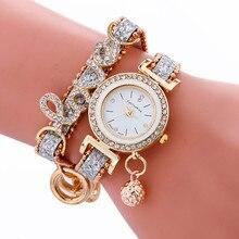 Montre Femme, женские часы, новая мода, кожаный браслет, алмаз, роскошные женские наручные часы,, новые relojes para mujer
