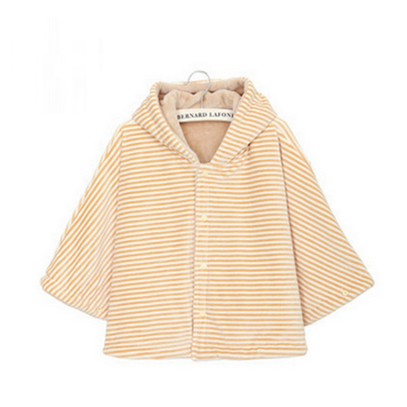 Fashion Flannel combination Baby Coat Babe Cloak Two-sided Outwear Baby Poncho Cape Infant Baby Coat Children Clothes 0-3 years