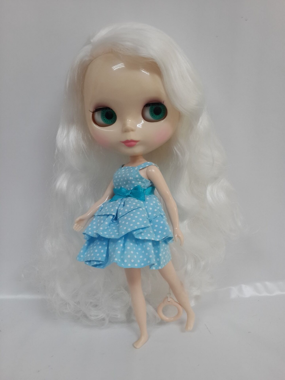 White hair doll Blyth girl doll for DIY customs WISO62