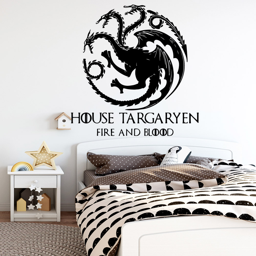 Fashion house targaryen Wall Sticker Decal Home Decor Removable Decals
