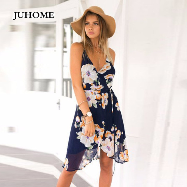 9697a6ee81 summer beautiful cheap sweet dresses boho chic clothing Open Back shortest  robe sexy casual suspender hippie boho floral dress