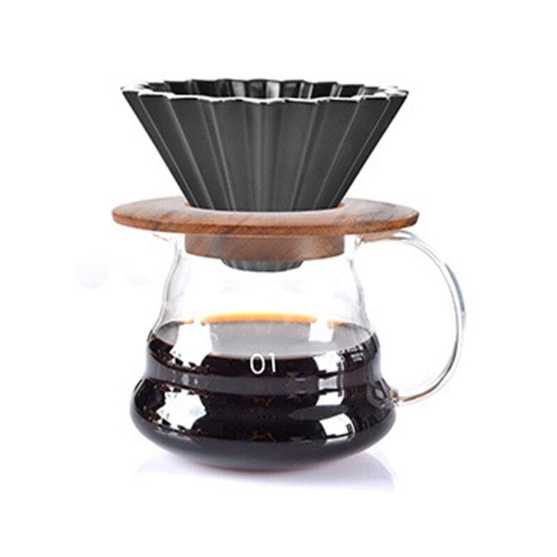 ROKENE V60 Style café goutte à goutte filtre tasse permanente verser sur la cafetière avec support séparé en céramique café goutteur moteur