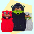 Fashion Cartoon Bear hat Vest Outerwear Baby Vests For Children Kids Boys Formal Vest Coat Vetement Garcon Warm Vests Jacket