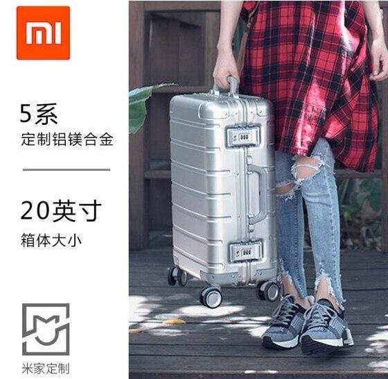 Moda alta calidad 20 pulgadas Material: 100% Aluminio magnesio XM 90 equipaje rodante Spinner maleta de viaje de marca de lujo-in Equipaje de ruedas from Maletas y bolsas    2