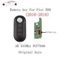 GORBIN 3 Knoppen 433 Mhz Auto Afstandsbediening sleutel DIY Voor Fiat 500L Bravo Ducato 500L 2010 2011 2012 2013 2014 2015 2016 Originele sleutels