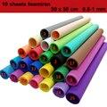 10 листов пенопласта 50x50 см Foamiran 1 мм EVA крафт-бумага материалы «сделай сам» губчатые бумаги украшение для детей