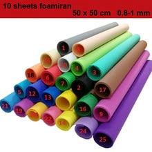 10 Sheet Foam Paper 50x50 cm Foamiran 1 mm EVA Craft Paper DIY Materials Sponge Papers Decoration for Children