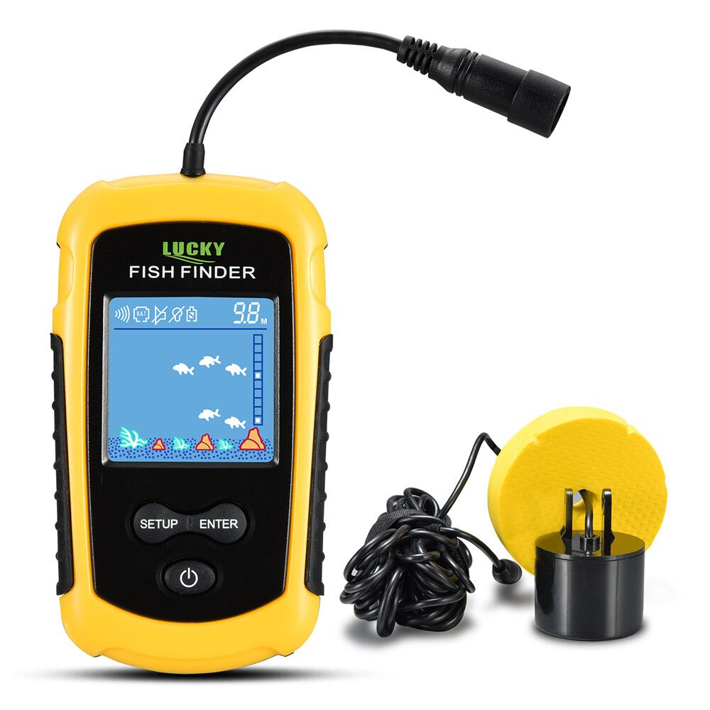 FFC1108-1 Hot Sale Alarm 100M Portable Sonar LCD Fish Finders Fishing lure Echo Sounder Fishing Finder fishing finder display 2018 marine gps alarm 100m portable sonar lcd high definition fish finders fishing lure echo sounder