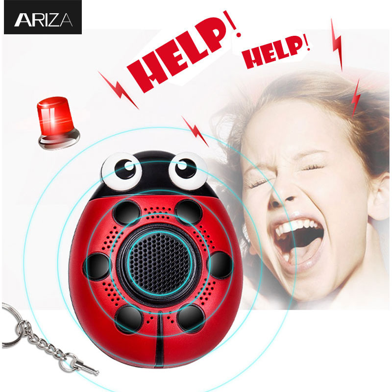 Ariza 130DB self-defense personal security alarm keychain electronic safety alarm panic alarm keychain anti-rape anti-attack