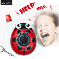 Ariza 130DB Self Defense Personal Security Alarm Keychain Electronic Safety Alarm Panic Alarm Keychain Anti Rape