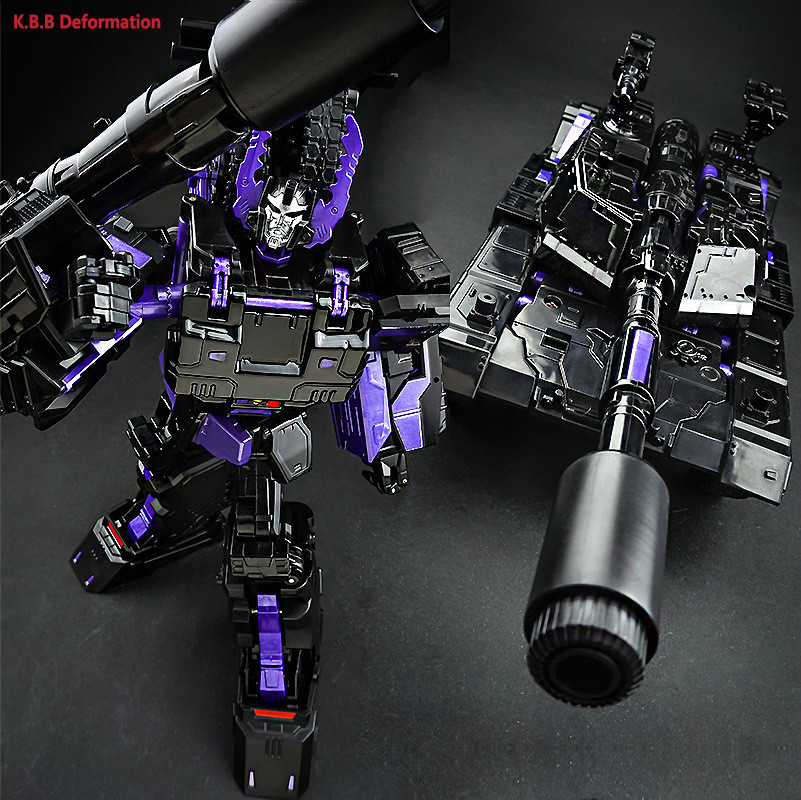 Transformation KBB Galvatron Dark Black Tank Models Alloy Oversize Metal Edition Action Figure Robot Toys hot sale transformation devastator metal part kbb mp10 v optimus prime figure classic toys robot cars for kids christmas gifts