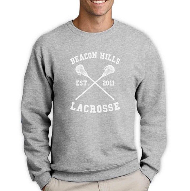 Cou Du Lacrosse Loup Plus Mode Jumper Équipe Sweat gris Stilinski À Ras Longues Collines rouge Manches Balise Hommes Pull De Teen Movie Taille La Noir v5wFznqH
