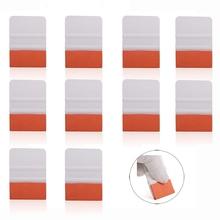 EHDIS 10pcs Teflon Suede Felt Wrap Squeegee Scraper Vinyl Car Wrapping Tool Stickers Foil Film Install Auto Window Tint