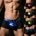 New 2017 Hot Mesh Mens Underwear Spandex Men Boxers sexy men's boxer shorts Brand pants for men 4 Colors plus size gay trunks
