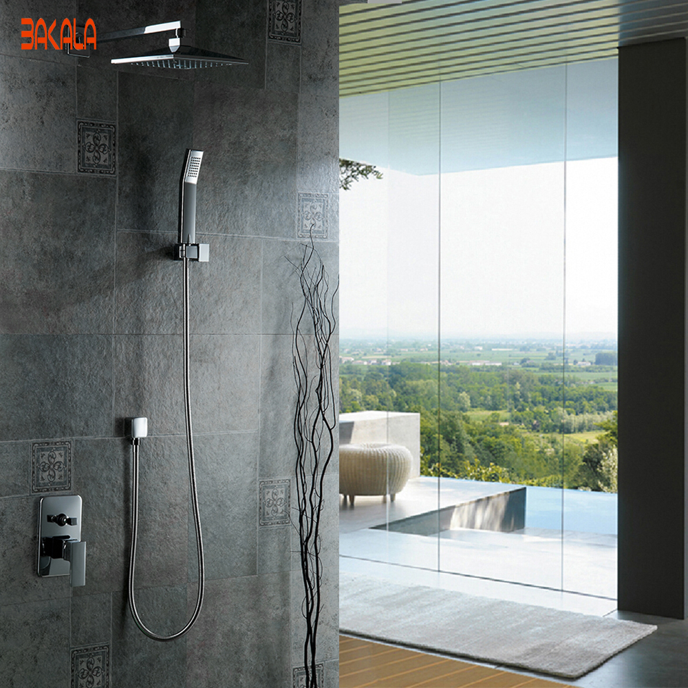 Freeshipping And Retail NEW Chrome Brass Water Pressure Boosting Bathroom Rain 8