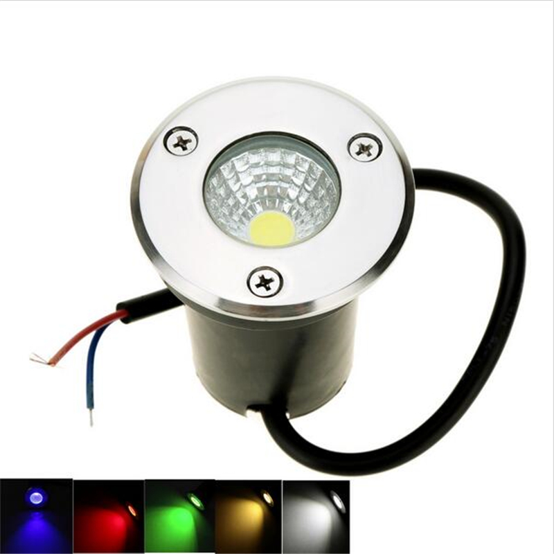 New IP68 5W 10W Waterproof LED Underground Light Outdoor Ground Garden Path Floor Buried Yard Spot Landscape 85-265V DC12V