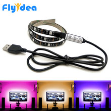 0.5M 2M USB Led Light strip DC5V Flexible LED light Tape Ribbon SMD5050 HDTV Screen Background lighting RGB Dimming Controller(China)