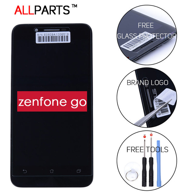 Оригинал ИСПЫТАНИЯ 1920x1080 Дисплей Для ASUS Zenfone Go LCD Сенсорный экран С Рамкой Планшета Ассамблеи 5.0 Dual SIM ZC500TG Z00VD